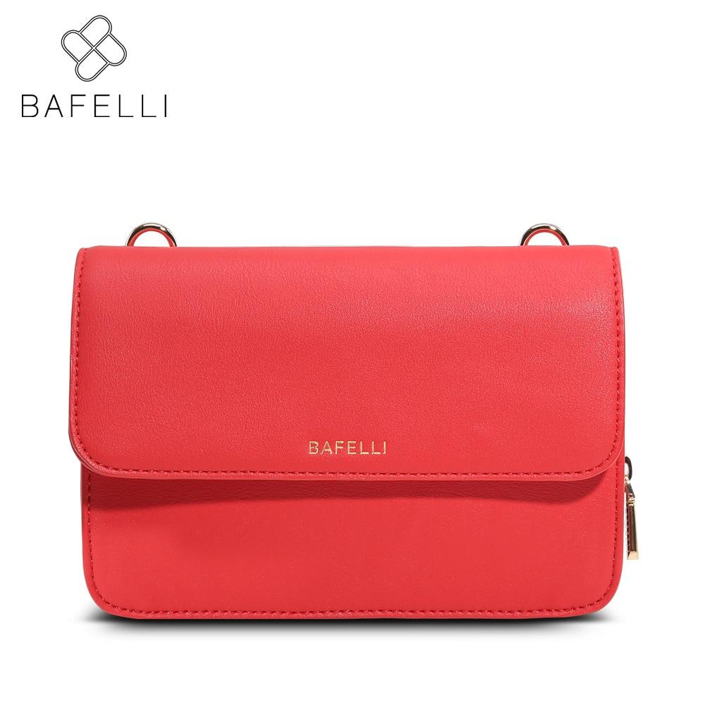 BAFELLI shoulder handbags fashion luxury china mini flap crossbody bag red black hot sale bolsa feminina women's messenger bag hot sale red mini r