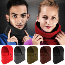 Winter Thermal Fleece Balaclava Hat Hooded Neck Sports Face Mask for Men Women Ski Bike Motorcycle Helmet Beanies Masked Cap