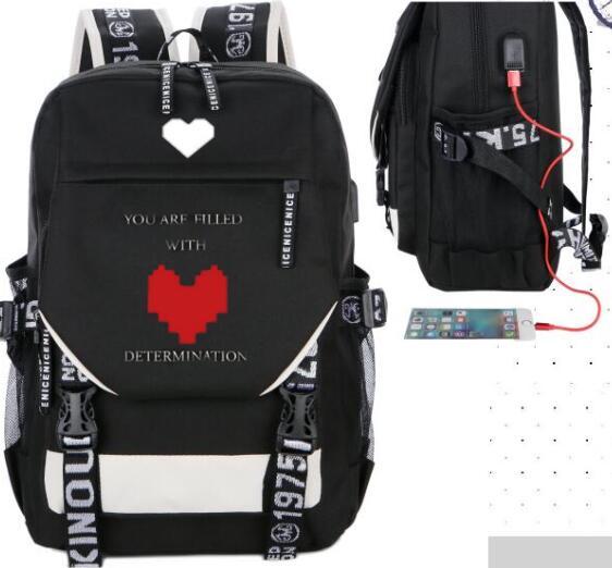 Undertale Sans Cosplay Props Backpack Nylon Travel Student School Shoulder Bag