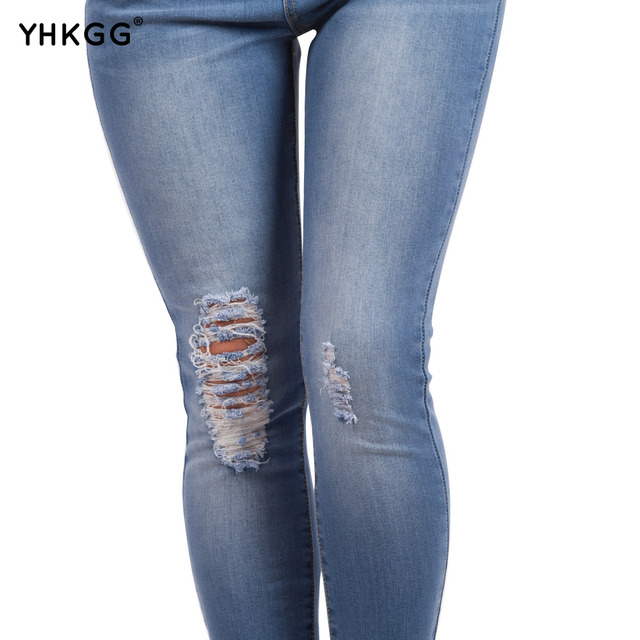 YHKGG Washed Casual Skinny Pencil Pants Stretch Skinny Jeans Summer Pants Casual Trousers  Plus Size