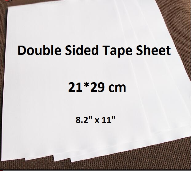 A4 21*29cm Plain White Double Sided Adhesive Tape Sheet For Paper Craft Cardmaking 1 To 20 Sheets kicute 20 sheets transparent a4 double sided adhesive sheet clear diy craft strong sticky tape paper office school supply