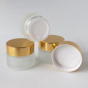 Image 4 - Frasco de maquillaje de 20x15 ml de vidrio esmerilado vacío con tapas negras doradas foca blanca 1/2oz contenedores de vidrio cosmético vacíos portátiles