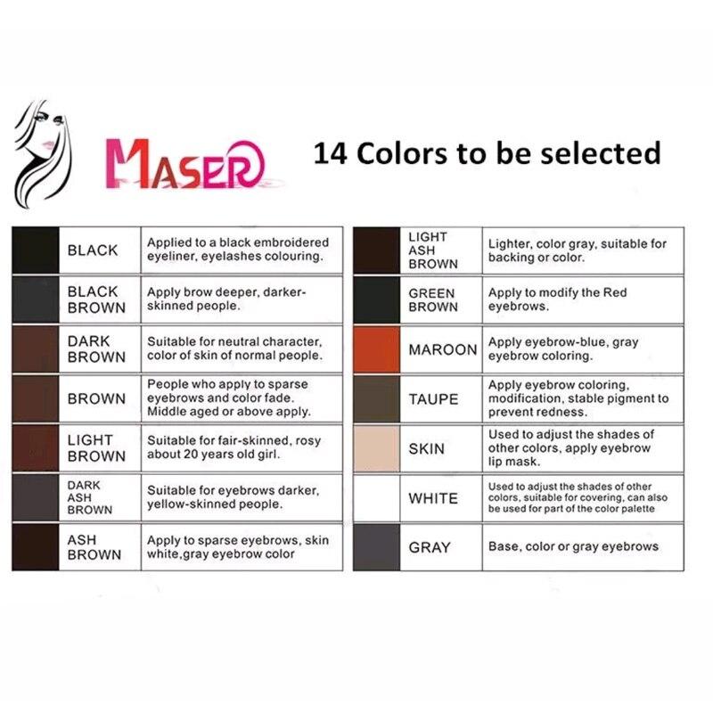 ФОТО 4PCS 15ml Beige PCD Manual Permanent Eyebrow Lip Eye-line Makeup Pigment Tattoo Ink Tattoo Supplies