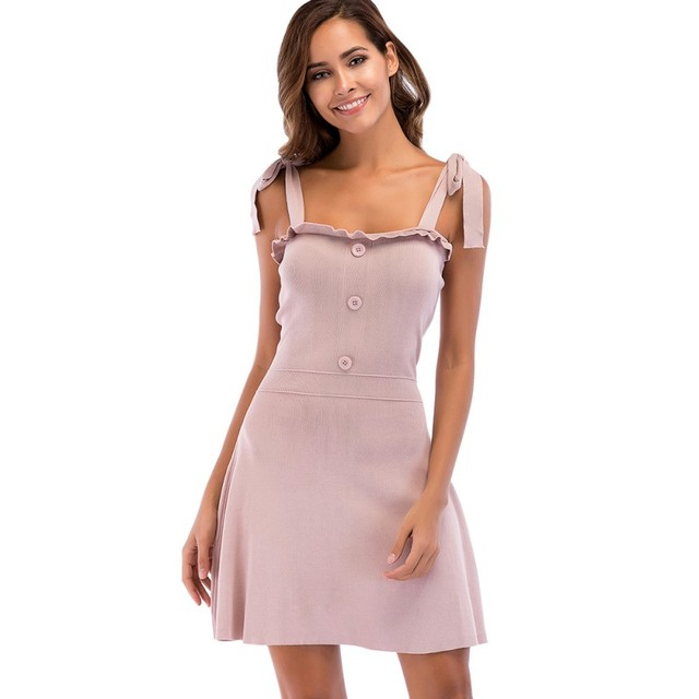 0d49995fe12ef1 Casual Sexy 2018 Summer Dress Sleeveless Strap Women Dress Short Hot  Sundress Dresses Robe Vestidos Clothing