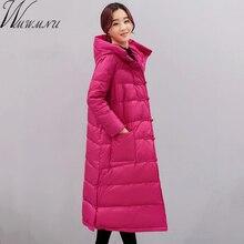 Wmwmnu 2017 new Down jacket winter women with hood white duck down parka winter coat women warm long jacket loose coat цены онлайн