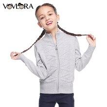 Kids turtleneck sweater knit pattern zipper long sleeve children cotton sweater stripe girls school uniform clothing fall 2017