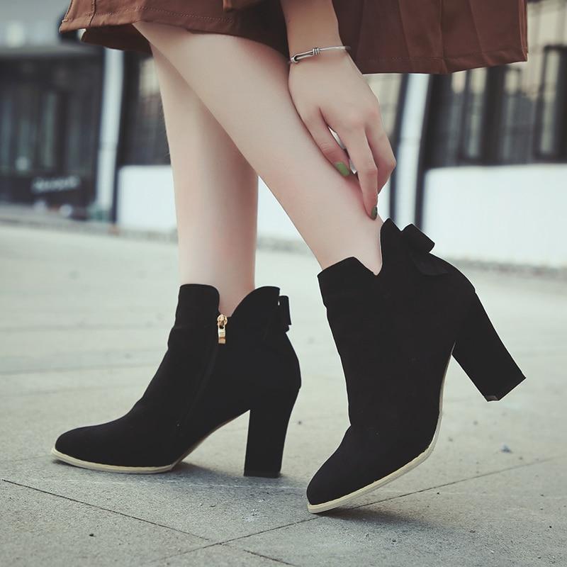La noir Femmes marron 35 Sangle Taille Designer Cheville Bottes Suede Gladiateur Chaussons Zipper Chaussures Plus Hiver Hauts Faux 43 Khaki Talons dwHHq