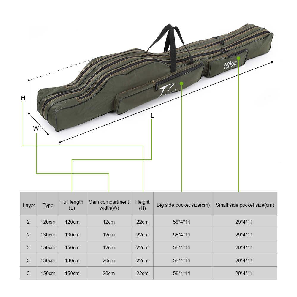 Fddl Hengel Zak Pole Real Gear Lure Case Karper Visgerei De Pesca Vissen Tassen Pouch 120/130/150Cm Canvas Zee Carrier