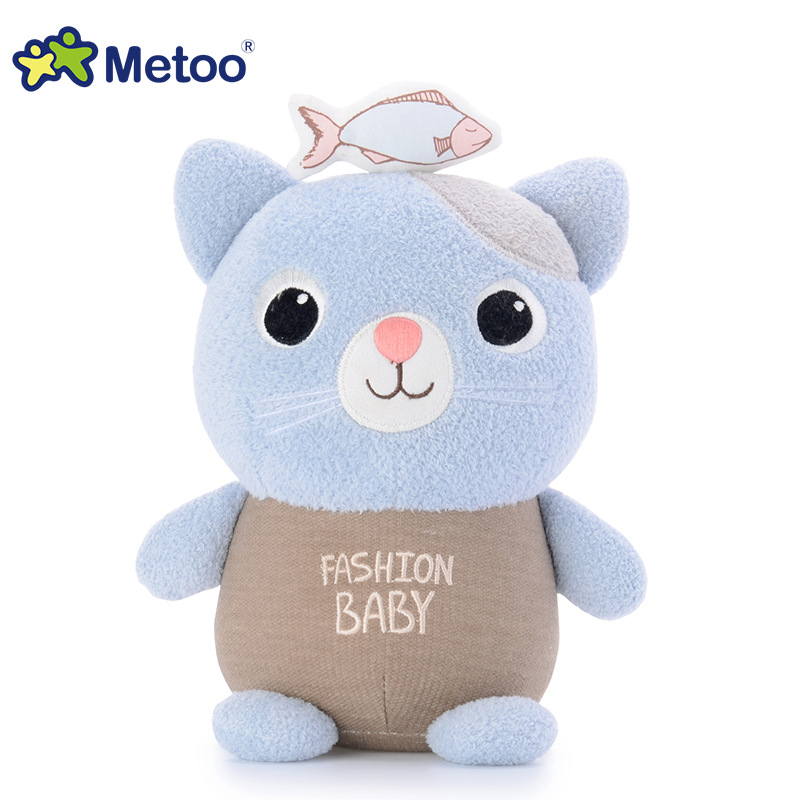 7 Inch Kawaii Plush Stuffed Animal Cartoon Kids Toys for Girls Children Baby Birthday Christmas Gift Cat Metoo Doll retro angela rabbit plush stuffed animal kids toys for girls children birthday christmas gift 13 inch accompany sleep metoo doll