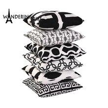 Stripe Geometric Cushion Cover Black Pillow Covers Decorative 2018 New Throw Pillows Super Soft  Decor For Home Gift Pillow Case geometrics triangles decorative super soft household pillow case