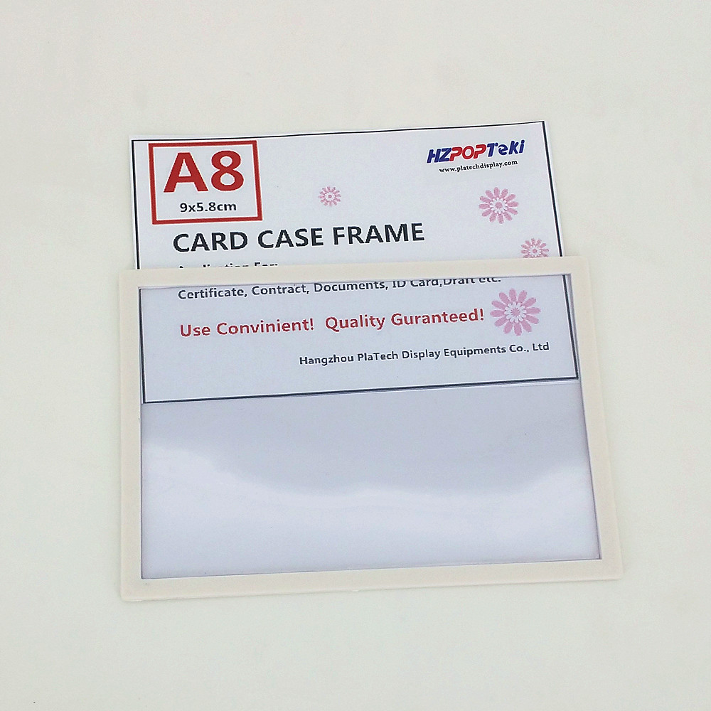 A8 Back Sticked By Tape Plastic Pop Paper Sign Card Label Display Show Case Frame On Retail Store Shelf Promotion 1000pcs