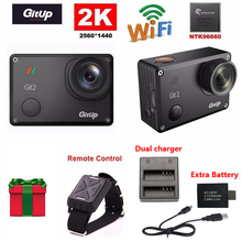 Gitup Git2 Novatek 96660 1080P WiFi 2K Outdoor Sports Action Camera+Remote Control+Extra 1pcs Battery+Battery Charger
