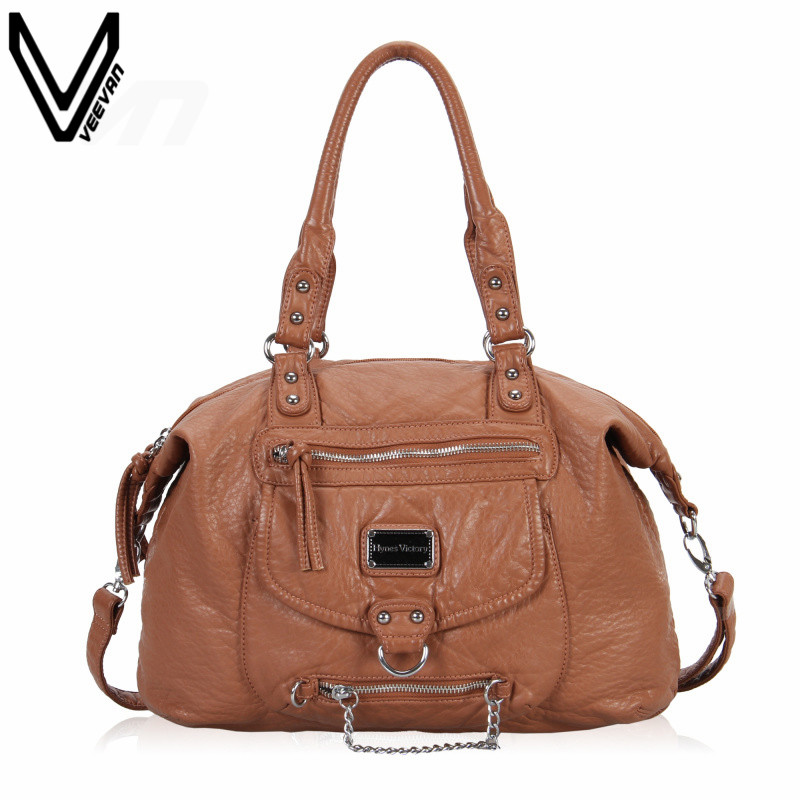 VEEVANV 2016 New Design PU Leather Handbags For Women Tote Bag Large Shoulder Handbag Bag For Ladies Messenger Crossbody Bags