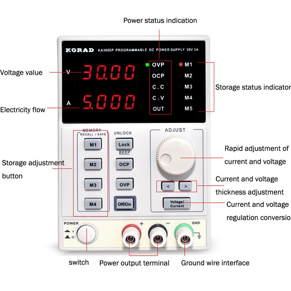 220V KA3005D haute précision réglable numérique DC alimentation 30 V/5A pour laboratoire de service de recherche scientifique 0.01V 0.001A - 2