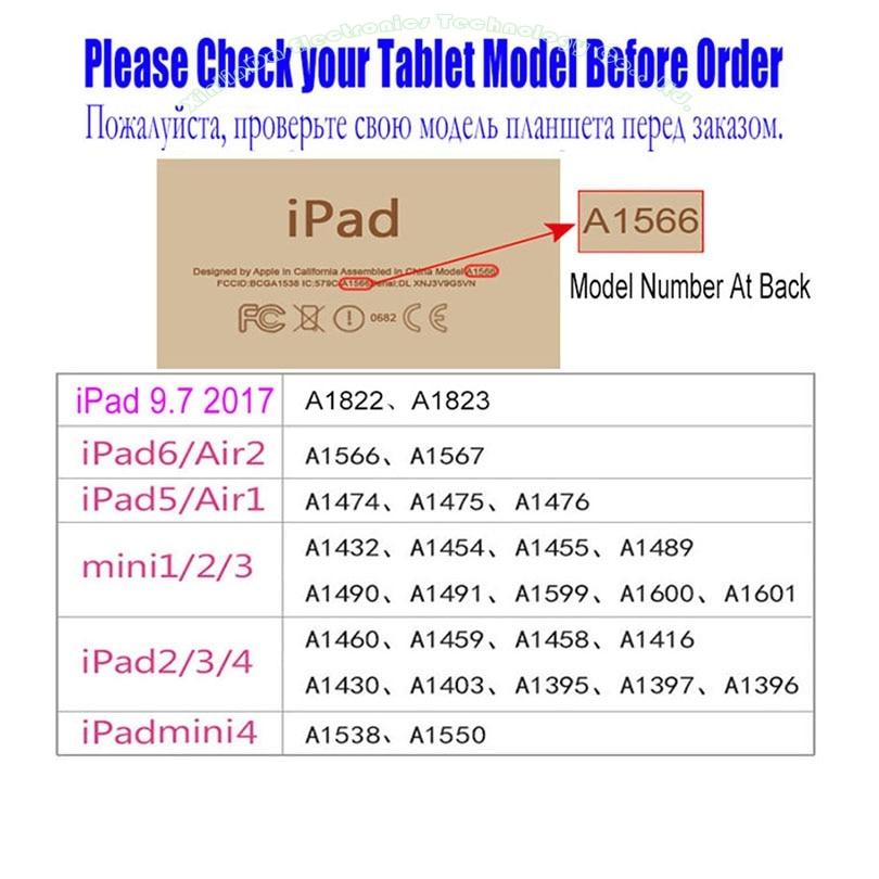 1PC Apple iPad Mini үшін жаңа былғары Case 3 2 1 - Планшеттік керек-жарақтар - фото 6