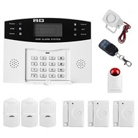 MOOL LCD Wireless GSM Autodial SMS Home House Office Security Burglar Intruder Alarm Set White