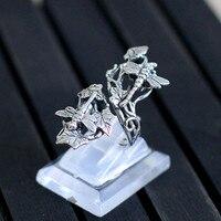 Charakter srebrny produktów ms chiang mai, Tajlandia czysta instrukcja thai srebrne ozdoby srebrne dragonfly pierścień wody