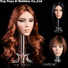 YMT014 1/6 Beauty Mixed-race Girl Head Carving Fit 12 Figure Female Body