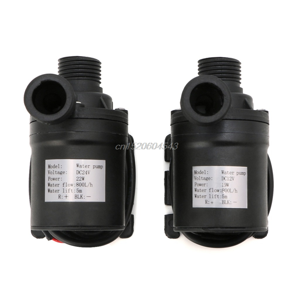 800L/H 5m DC 12V 24V Solar Brushless Motor Water Circulation Water Pump Submersibles Water Pumps R06 Drop Ship