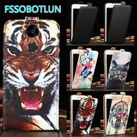 Factory Direct! TOP Quality Cartoon Drawing Vertical Flip PU Leather Cell Phone Case Cover For Blackview P2