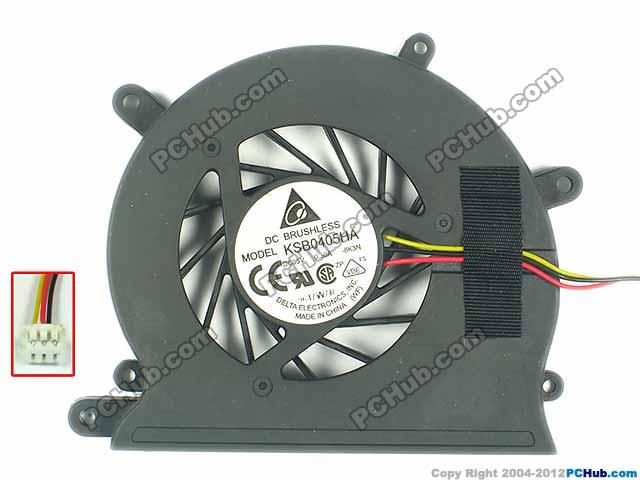 Delta Electronics KSB0405HA 8K3N DC 5V 0.30A Server Baer fan 3-wire