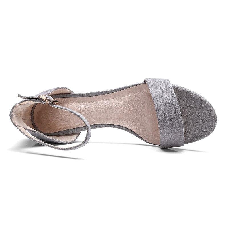 Fête Talons Why35 Rond Sandale Sandales Tenue Cheville Chaussures 2018 gray Printemps Hauts Bout Femmes D'été Sangle Black De Grande 42 Taille Enmayer H6qwABxA