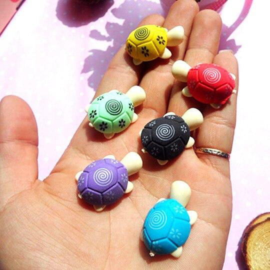 4 шт./лот Kawaii Черепаха форме Ластики для малыша резиновая Ластики Очищение канцелярские товары детские подарок игрушка корейский papelaria