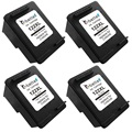 4PK,Black Ink Cartridge for HP 122 122XL hp122 Deskjet 1050 J410a J410c J410d 1051 1055 J410e 1056 2543 ENVY 4500 4501 4502 4503