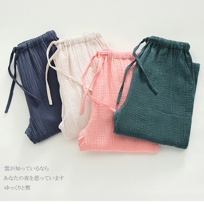 For hip 99-114cm can wear 100% cotton Sleep pants Spring Pajamas Pants Women Cotton sleepwear botton 524