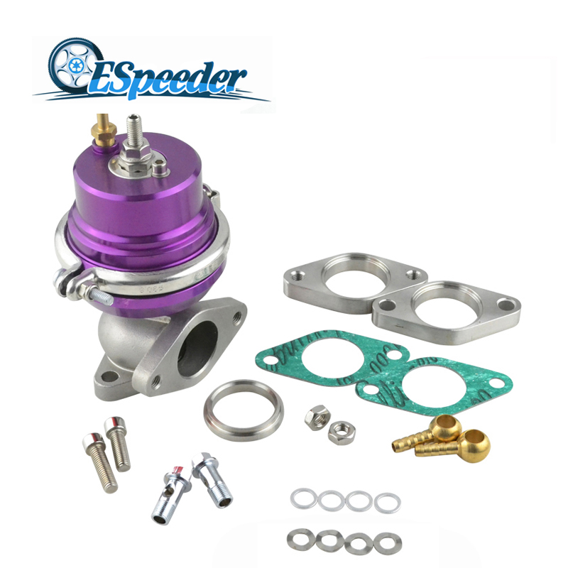 ESPEEDER 38mm Purple Wastegate Turbo External Kit Adjustable Pressure Waste Gate With Flange For Supercharge Turbo