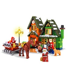 861pcs Sermoido Winter Village Post Office City Advent Calendar Christmas Model Building Blocks Bricks Toy Compatible Legoings