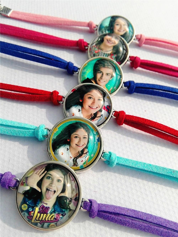 24 pcs New Design de Moda Super pop cantor Luna Luna pulseiras Elenco de Soja de Soja Foto prata Bangle estou luna pulseira atacado