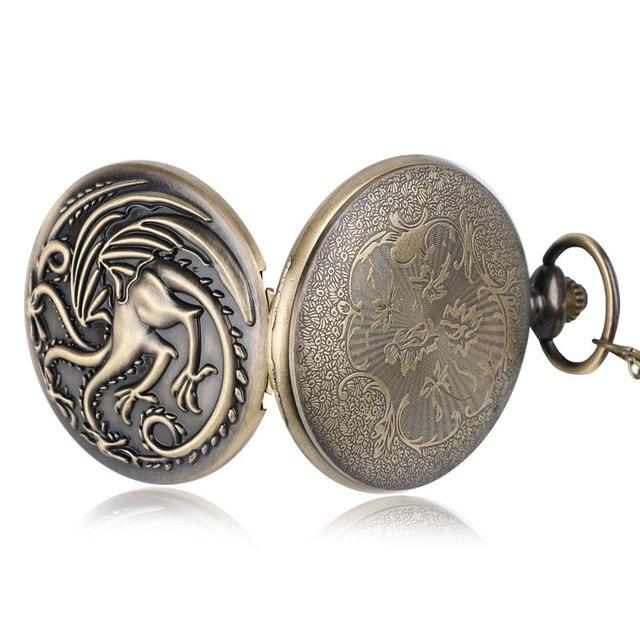 Retro Bronze Pocket Watch 3