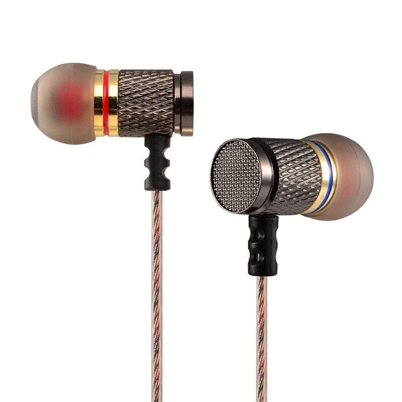 New KZ ED KZ-ED2 Professional In-Ear Earphone Super Metal Heavy Bass Sound Music Earphone Headset Earbuds fone de ouvido