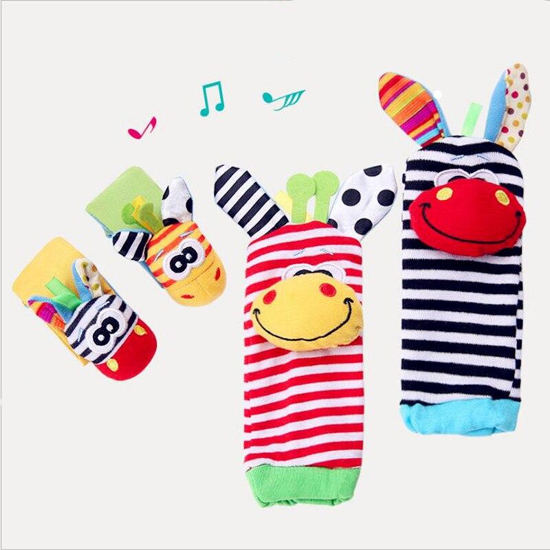 Погремушка для детей, Набор погремушек, Детские Сенсорные игрушки, носочки, браслет на запястье, подарок, Прямая поставка