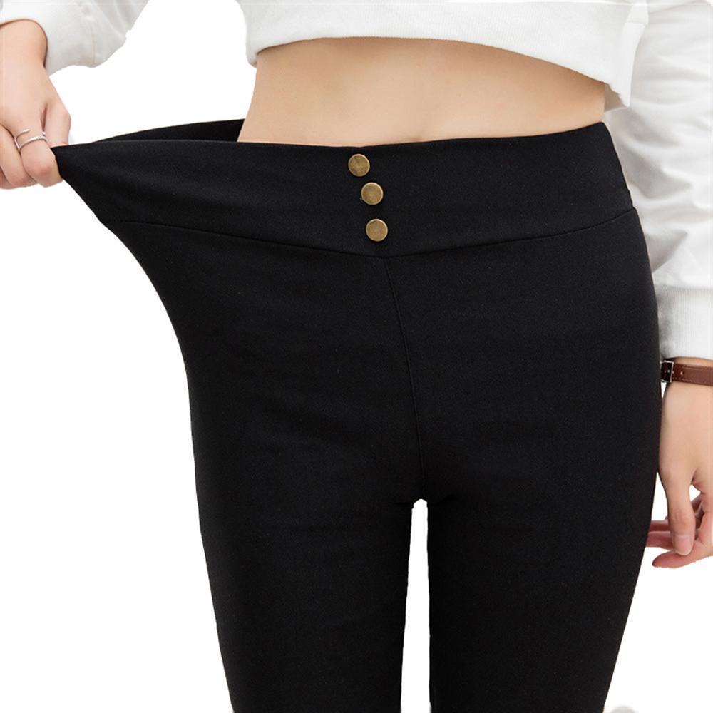 2018 Woman Legging Pants High Elastic Elegant Black High Waist Female Stretch Pencil Pants Females Casual Slim Trousers Women