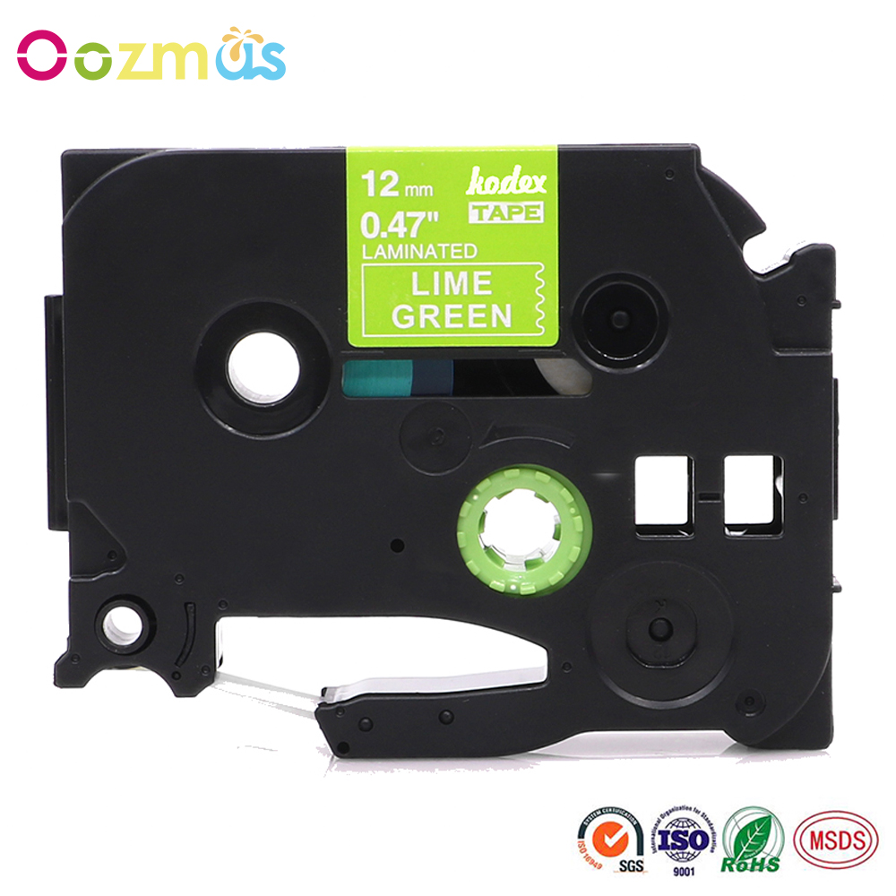 Oozmas TZe-MQG35 P-Touch Label Tape 12mm compatible <font><b>Brother</b></font> Labeling Ribbon for P-touch <font><b>PT</b></font>-P750W P700 H100 <font><b>D210</b></font> D200 Printer image