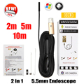 Endoscope 5.5mm USB Android Snake Camera Endoscopio PC Android Phone Camera 2m 5m 10m Pipe Inspection USB Endoscopic Camera