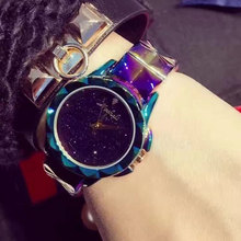 New design women super flash bracelet Wrist watches Luxury brand stainless steel watch for women female