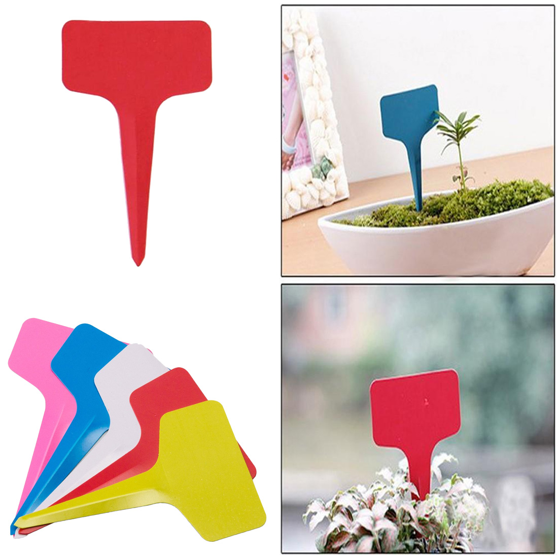 Garden Hand Tools Adroit 20pcs Gardening Plant T Shape Waterproof Tags Flower Vegetable Planting Label Tools Farm Garden Seedling Tray Mark Garden Tools