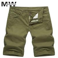 Mrwonder 2018 Newest Summer Casual Shorts Men Cotton Fashion Style Men Shorts Bermuda Beach 5 Colors