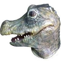 2016 High Quality Halloween Adult Cosplay Animal Latex Crocodile Mask Cartoon Crocodile Costume White Mask