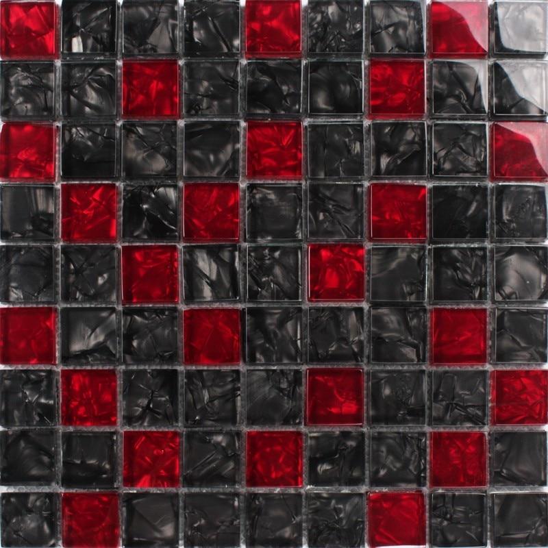 30mm Luxury Black Red Crystal Glass Mosaic For Bathroom Shower Tiles Wall Mosaic Kitchen Backsplash Free Shipping 11pcs Wall Stickers Aliexpress
