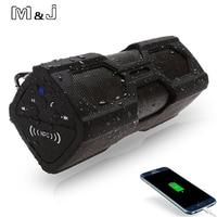 M&J NFC Portable Speaker Waterproof Wireless Bluetooth Speaker Soundbar Built in Battery Power Bank Support For Phone PC