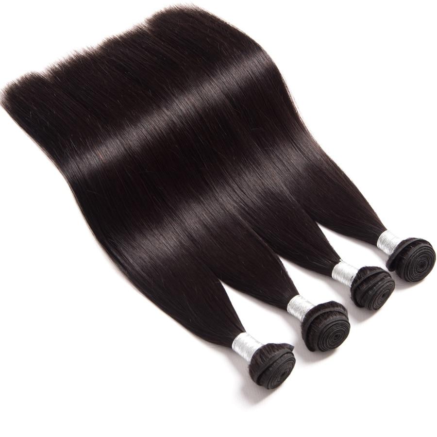 10A Grade Straight Hair Brazilian Virgin Hair Weave Bundles - Մարդու մազերը (սև) - Լուսանկար 3