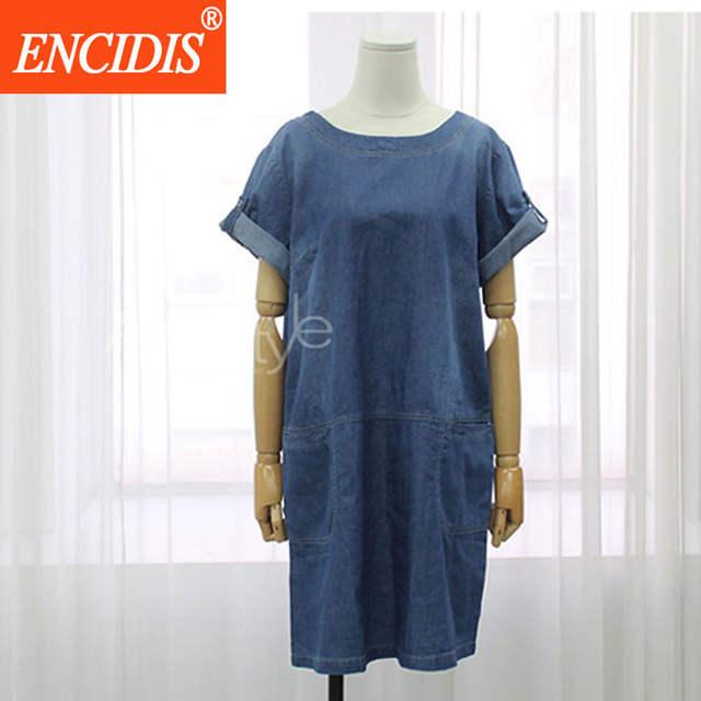 30378ee4c50 placeholder European 5XL Plus Size Short Sleeve Denim Dress Women Fashion  Clothing Summer Dress 2017 Casual Loose