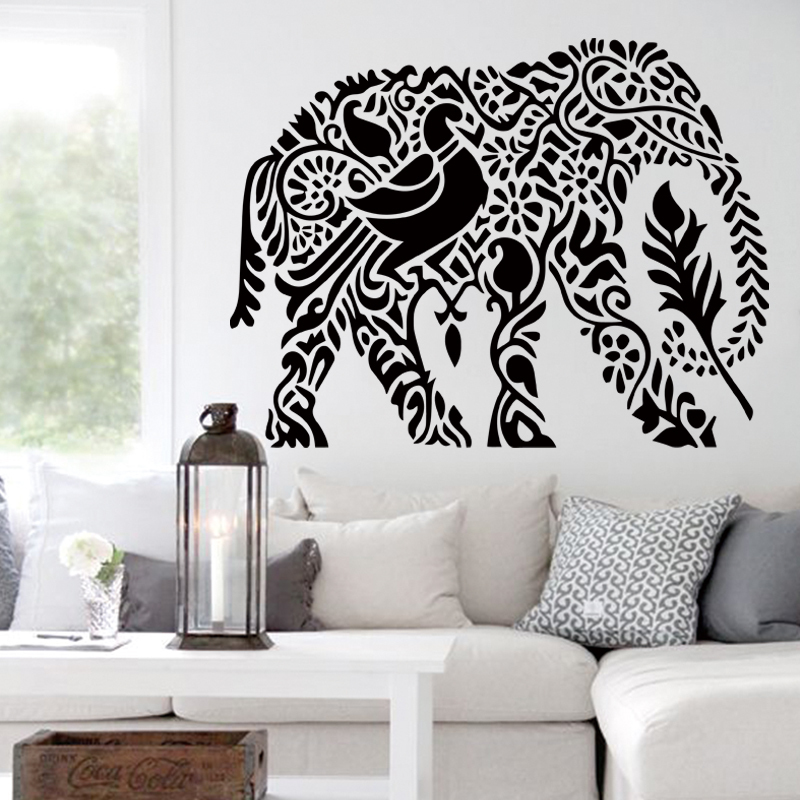 Art design home decoration pvc cute elephant wall sticker for Cute house decor