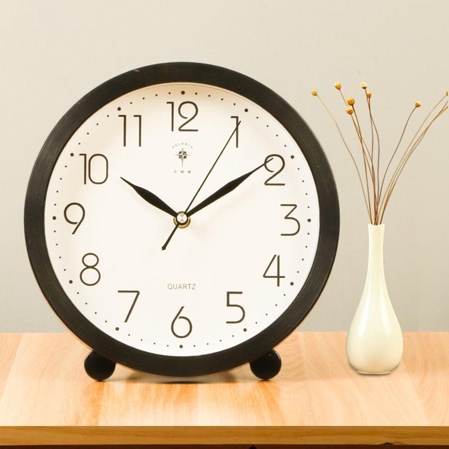 Retro Vintage Desk Office Table Clock Vintage Pendulum Clock Electronic Desk Clock Home Decor Decorations Living Room WZH010
