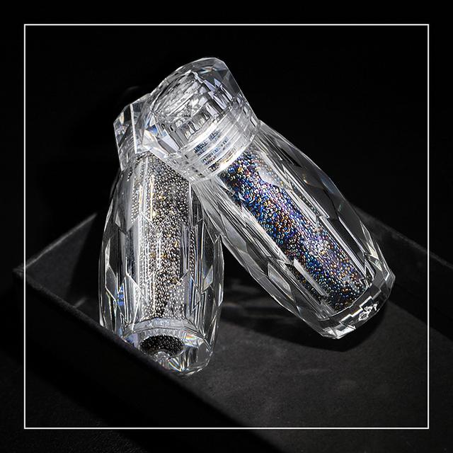 1 Bottle Mini Caviar Beads Crystal Tiny Rhinestones Glass Micro Bead For Nails DIY Colorful 3D Glitter Nail Art Decorations