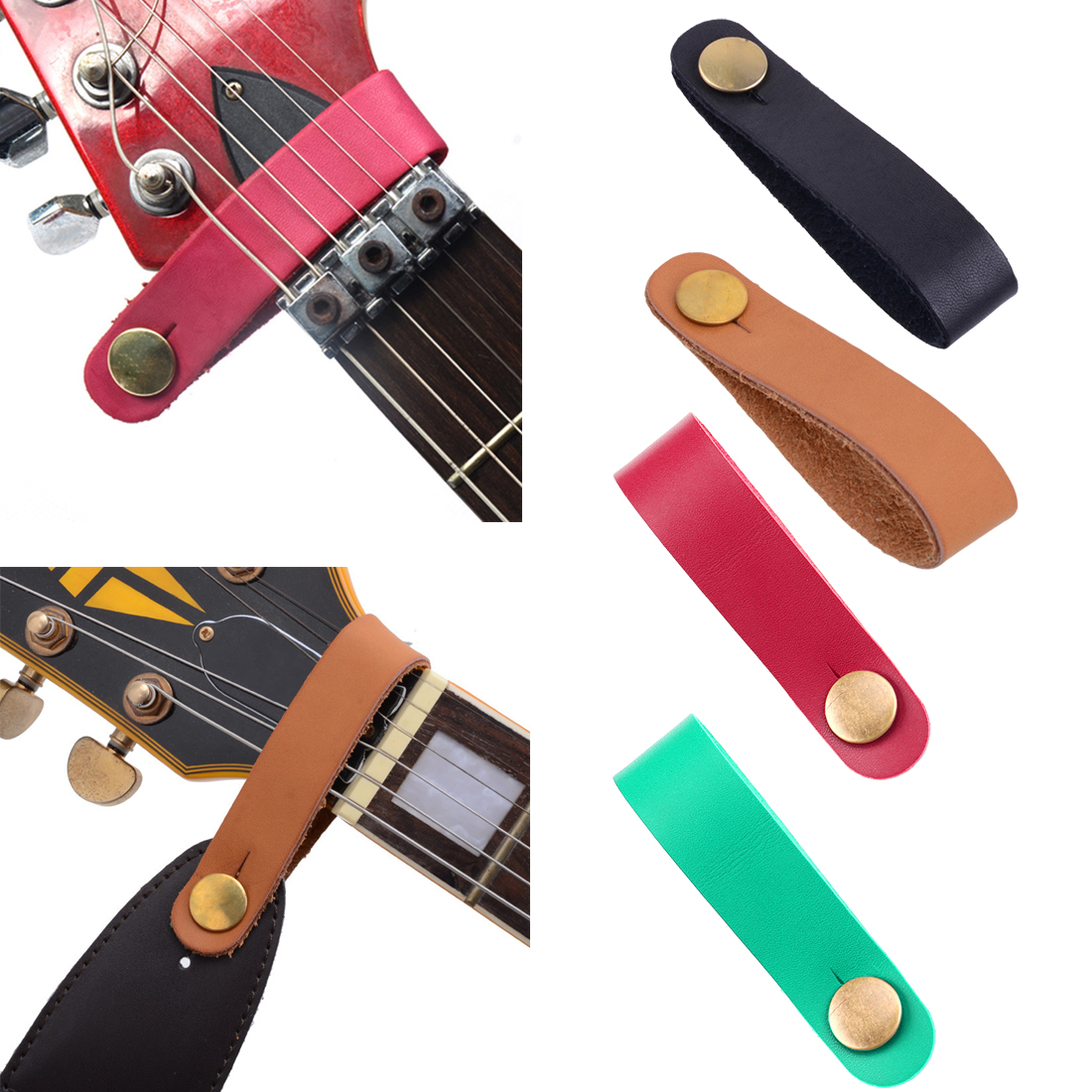 Hot Leather Guitar Strap Holder Button Safe Lock For Acoustic Electric Classic Guitarra Bass Instrument Guitar Accessories